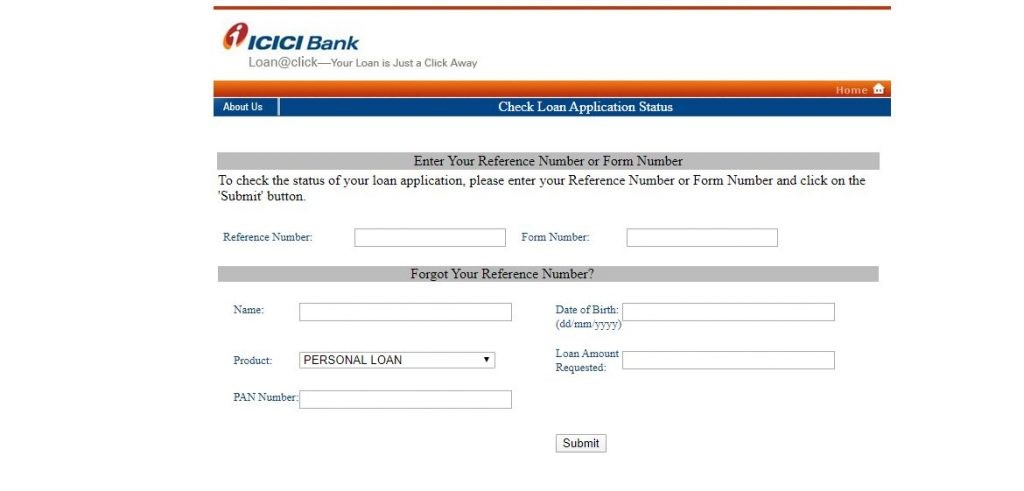 How to track ICICI Personal Loan Application Status