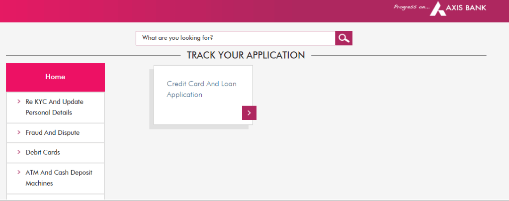Credit Card and Loan Application section